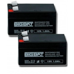 Confezione 2 Batterie 12 V 1,2 Ah