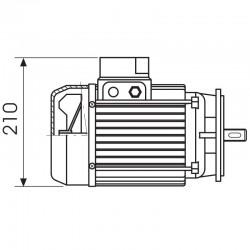 ART. 690432 - Motore elettrico trifase da 0,5CV per MEC 200